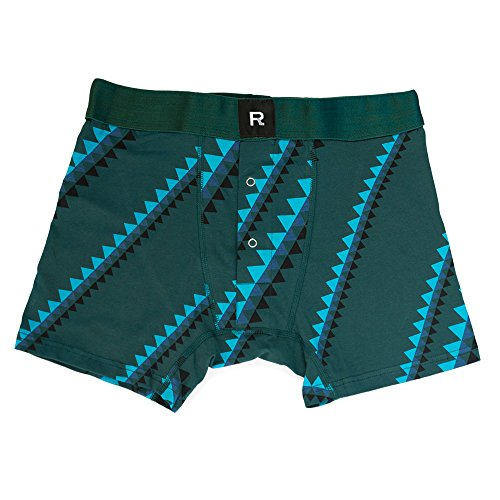 Richer Poorer Men's Mountaineer Boxer Brief Green L none from Richer Poorer