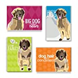 Pop Doggie Leonberger Refrigerator Magnets with Funny Sayings (Set of 4)