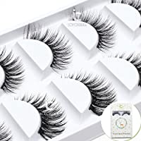 ICYCHEER Premium 3D Real Mink Fale Eyelashes Extension Handmade Reusable Natural Daily Party Natural Long Thick Winged