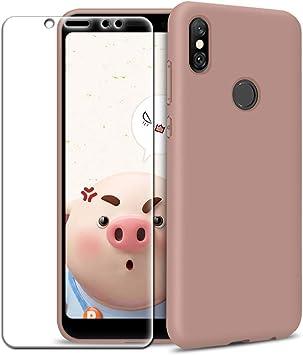 Funda Xiaomi Redmi Note 5 + Protector de Pantalla de Vidrio Templado, Carcasa Ultra Fino Suave Flexible Silicona Colores del Caramelo Protectora Caso Anti-rasguños Back Case: Amazon.es: Electrónica
