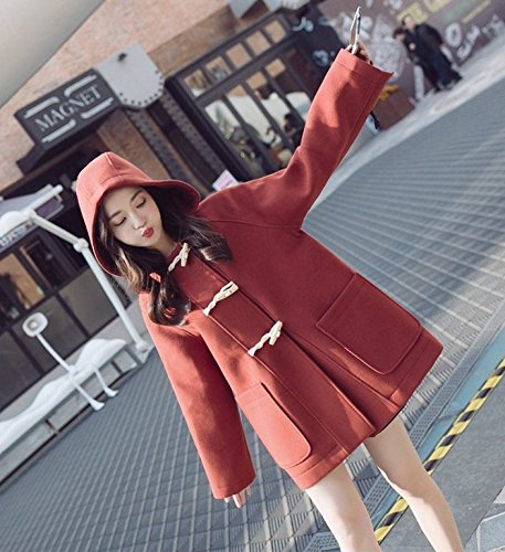 Tassel Jacket Winter Clothing Autumn And Rust Female Thicker Horns Xuanku Coat Trunks red Cuffs nXxwX