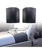 XBEEK Cowl Body Armor Outer Cowling Cover Corner Guards for 2007-2018 Jeep Wrangler JK JKU Unlimited Rubicon Sahara Sport Exterior Accessories, Black
