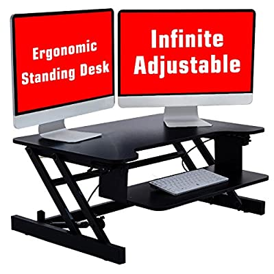 Adjustable Standing Desk, Stand Up Desk Converter, JOYBASE Ergonomic Tabletop Monitor Laptop Riser Platform Station