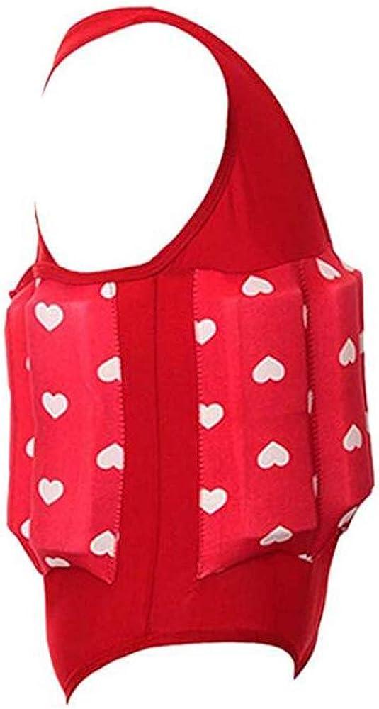 Lazzon Baby Badeanzug mit Entnehmbare Schwimmhilfe /Ärmellos Bojenanz/üge Einteiler Bademode Badebekleidung f/ür Kinder M/ädchen Jungen