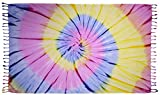 huge tie dye blanket - Tie Dye Beach Towel Blanket & Quick Dry Fouta Turkish Pestemal for Pool, Beach, Bath and Tapestry. 100% Cotton Double Sided, Terry Cloth Backing.
