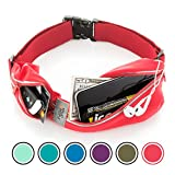 Running Belt USA Patented. Fanny Pack for Hands-Free Workout. iPhone X 6 7 8 Plus Buddy Pouch for Runners. Freerunning Reflective Waist Pack Phone Holder. Men Women Kids Gear Accessories (Red)