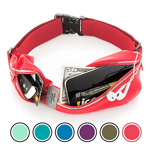 - Running Belt USA Patented. Fanny Pack for Hands-Free Workout. iPhone X 6 7 8 Plus Buddy Pouch for Runners. Freerunning Reflective Waist Pack Phone Holder. Men Women Kids Gear Accessories (Red)