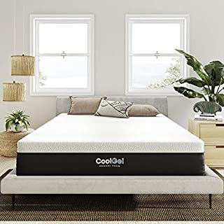 Classic Brands Cool Gel and Ventilated Memory Foam 12-Inch Mattress CertiPUR-US Certified, King, White