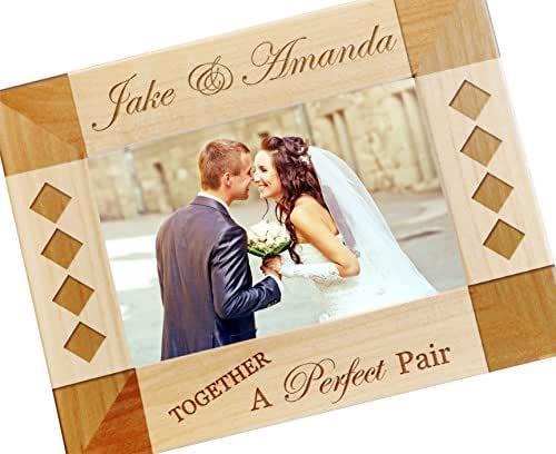 Amazon Custom Engraved Wedding Picture Frame Personalized