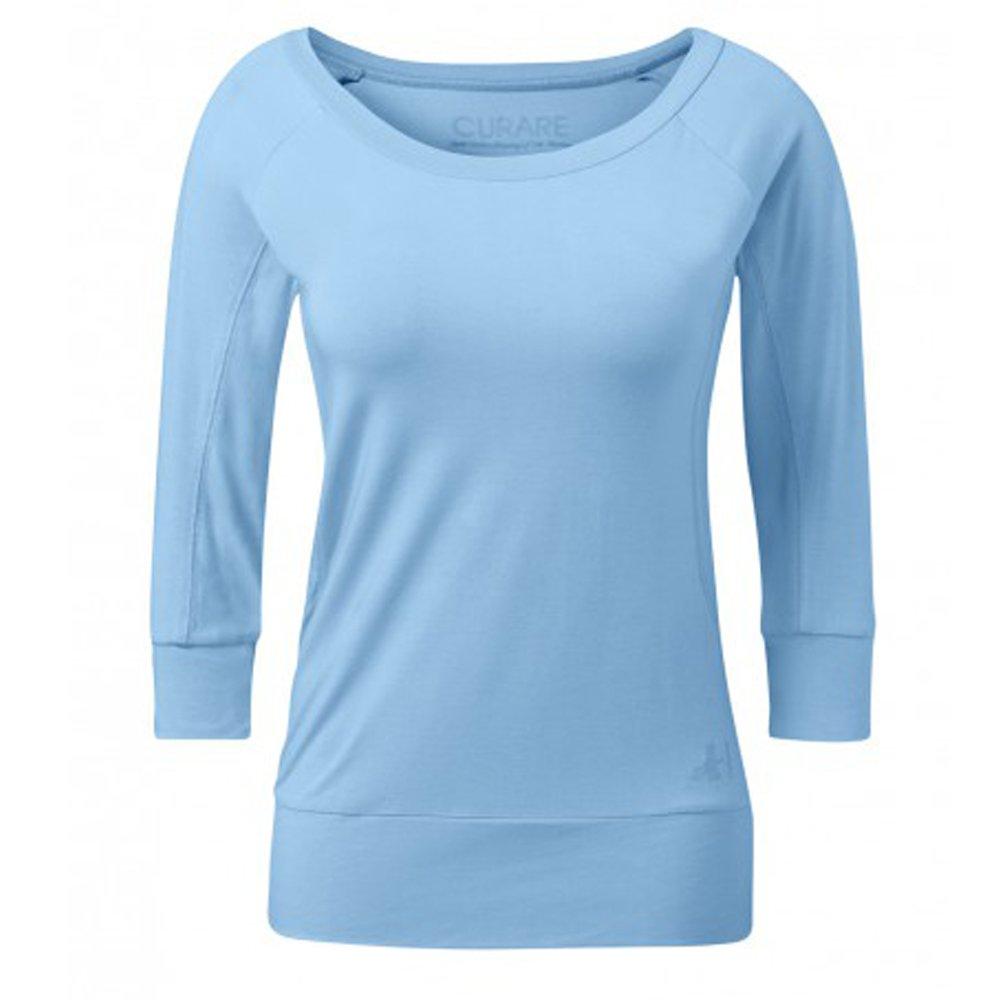 Curare Yoga de manga 3/4 para mujer, color azul celeste ...