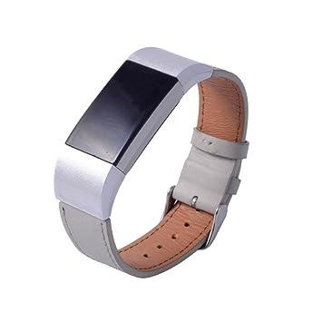 Correa de reloj para Fitbit Charge 2, VNEIRW Hombre Mujer Moda Cuero Reloj de Reemplazo