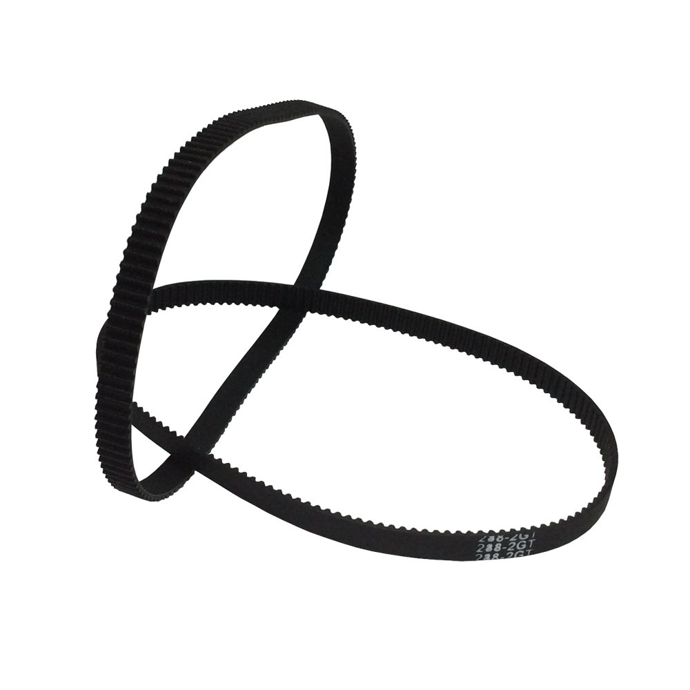 BEMONOC 3D Printer Parts 288-2GT-6 Timing Belt in Closed Loop Color Black GT2 L=288mm W=6mm 144 Teeth Pack of 10pcs by 2GT Timing Belt Closed Loop (Image #3)