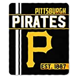 "The Northwest Company MLB Pittsburgh Pirates Walk Off Fleece Throw Blanket, Black, 50"" x 60"""