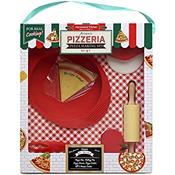 Handstand Kitchen Authentic Pizzeria 9-piece Real Pizza Making Set for Kids