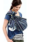 Mamaway Ring Sling Baby Wrap Carrier for Infants and Newborns, Breastfeeding Privacy, Ocean Lana