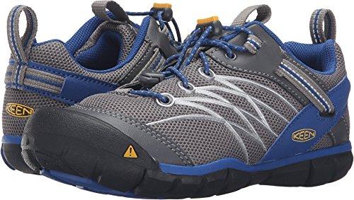 Keen Kids' Chandler Cnx Hiking Shoe, Gargoyle/True Blue, 6...