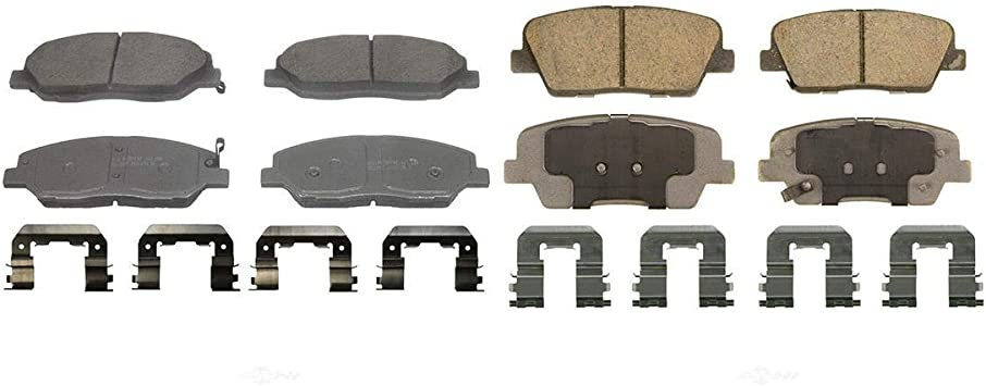Front Disc Brake Rotor /& Metallic Pad Kit Set for 07-09 Kia Sorento