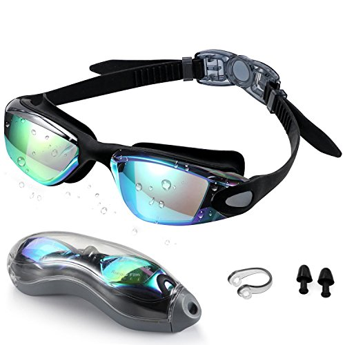 Swim Goggles,Swimming Goggles - Zerhunt Professional Anti Fog No Leaking UV Protection Wide View Swim Goggles For Women Men Adult Youth - Swimming Glass