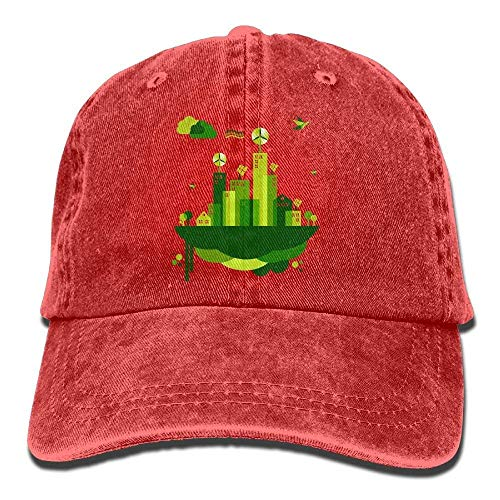 Hat Green City Denim Skull Cap Cowboy Cowgirl Sport Hats for Men Women