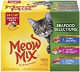 Meow Mix Seafood Selections Variety Pack, 24-Count, My Pet Supplies