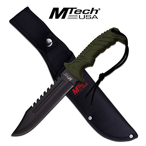 13-TACTICAL-SURVIVAL-Rambo-Hunting-FIXED-BLADE-KNIFE-Army-Bowie-w-SHEATH
