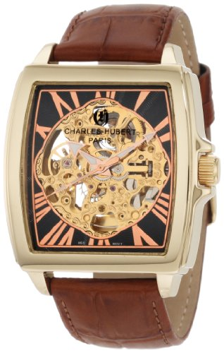 (Charles-Hubert, Paris Men's 3888-A Premium Collection Gold-Plated Stainless Steel Automatic Watch)