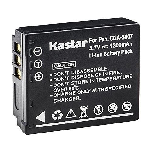 Kastar Camera Battery Replacement for Panasonic CGA-S007 CGA-S007A/1B CGA-S007E CGR-S007E CGR-S007E/1B DMW-BCD10 and Lumix DMC-TZ4 DMC-TZ5 DMC-TZ11 DMC-TZ15 DMC-TZ50 Lumix DMC-TZ1 DMC-TZ2 DMC-TZ3