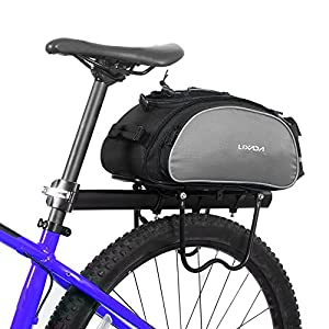 Lixada Bicycle Rack Bag Multifunction Waterproof MTB Bicycle Pannier Bag Bike Rear Seat Bag Cycling Cargo Carrier Bag Trunk Bag Handbag (13L/25L Optional)