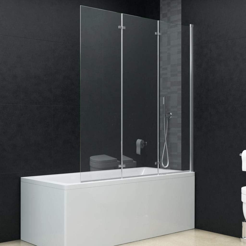 Tidyard Mampara de Ducha Plegable 2 Paneles ESG 120x140 cm: Amazon ...