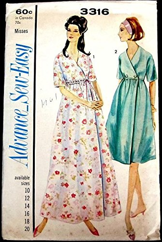 Advance Vintage Robe - Vintage Advance Sew Easy Robe in Two Lengths Sewing Pattern