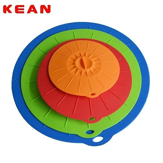Casavidas Kean - 4 tapas de silicona para tazas de microondas ...