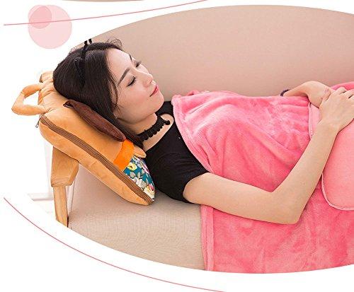 BSTcentelha 2 In 1 Cute Cartoon Plush Stuffed Animal Motifs Throw Pillow Blanket Set (Style E) by BSTcentelha (Image #3)