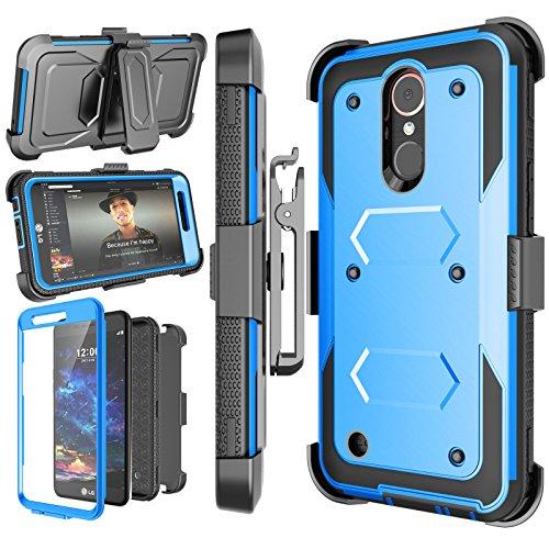 Njjex LG K30 Case, LG Premier Pro LTE/Xpression Plus/K30 Plus/K10 2018/Harmony 2/LG Phoenix Plus Holster, [Nbeck] Heavy Duty Built-in Screen Protector Locking Swivel Belt Clip Kickstand Cover - Cover Xpression Lg