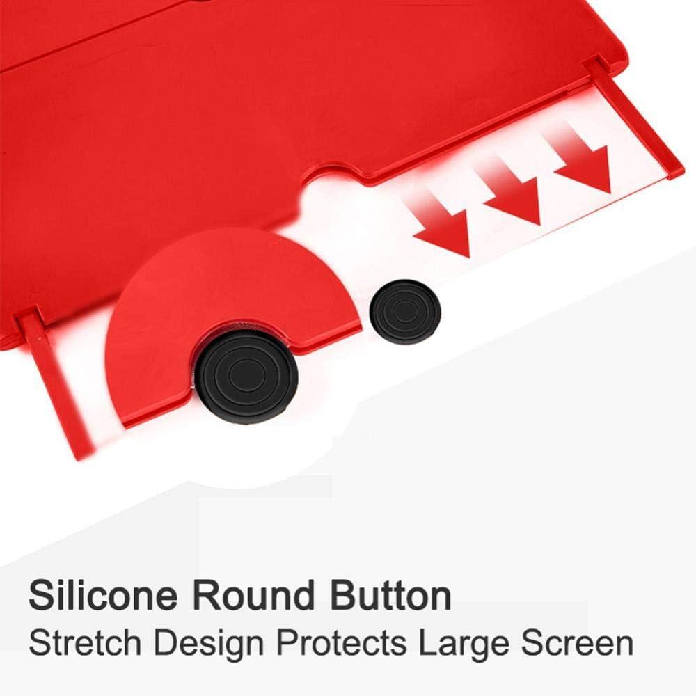 Black 12 Inch 3D Phone Screen Magnifier Stereoscopic Amplifying Desktop Foldable Bracket Non Slip Multifunction Mobile Phone Holder