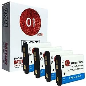 4x DOT-01 Brand 1200 mAh Replacement Kodak KLIC-7006 Batteries for Kodak M531 Digital Camera and Kodak KLIC7006
