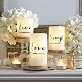 3-Piece Flickering LED Candle Set with Daily