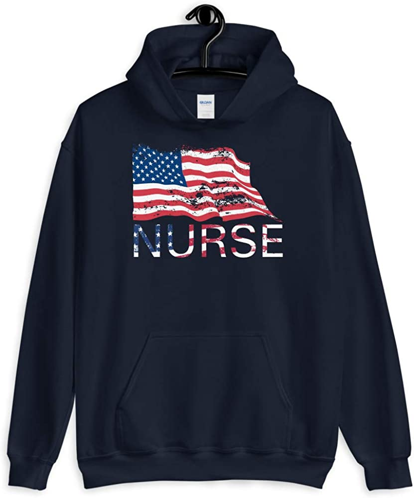 I Cant Stay at Home Im A Nurse Best America Nurse Proud Unisex Hoodie