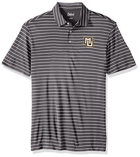 Eagle Classic Oxford - Oxford NCAA Marquette Golden Eagles Men's Turner Classic Stripe Polo Shirt, 3X-Large, Iron Gate