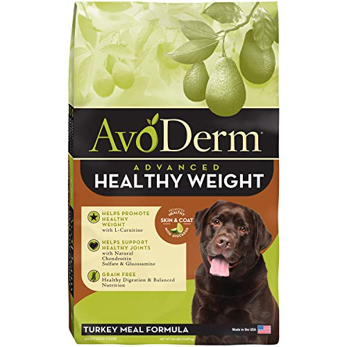 Avoderm Natural Advanced Healthy Weight, Grain Free Weight Management And Joint Support Dry Dog Food , Turkey Meal Formula, 24 Pound Bag
