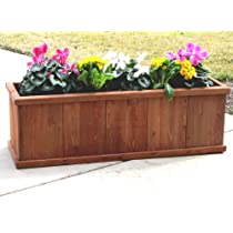 Outerior Decor Products Gran Robusto 48 Rectangular Cedar Planter