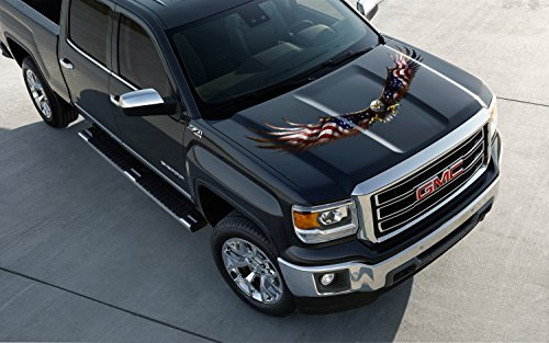 American Eagle Flag Truck Hood Semi Trailer Window Decal Sticker Graphic