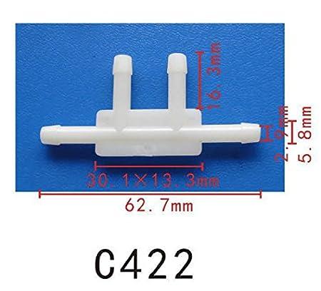 15 pieds par bobine Autobahn88 Durite /à vide Silicone haute Performance 4mm 4,5 m/ètres 9mm OD 0,35 blanc ID 0.16