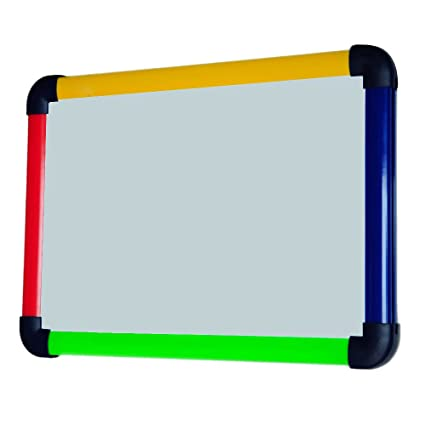 VIZ-PRO Children Board/Writing Whiteboard/Dry Erase Board,Colourful Plastic Frame -12 X 8 Inches
