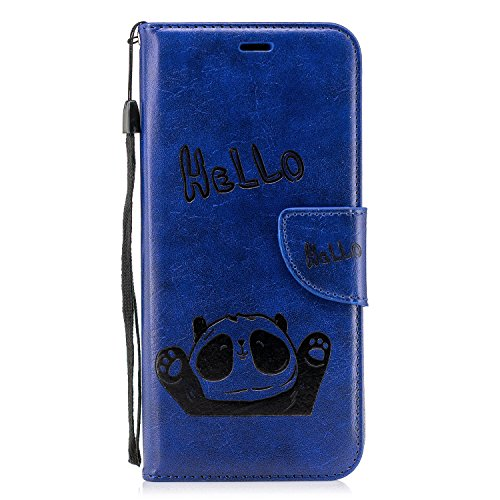 Full Body Panda Costume (Panda Flip Leather Wallet Case Soft[Slim Fit] Card Slots/Stand/360 Full Body Protection Cover for Samsung Galaxy S9/S9plus (Blue, Samsung Galaxy S9 Plus)