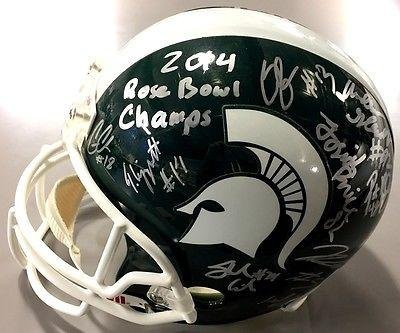 2014-Michigan-State-Spartans-Team-Signed-Rose-Bowl-Champs-Helmet-Connor-Cook-Coa