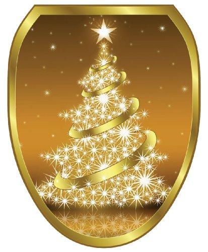 Toilet Tattoos TT-X609-O Gold Christmas Tree Decorative A...