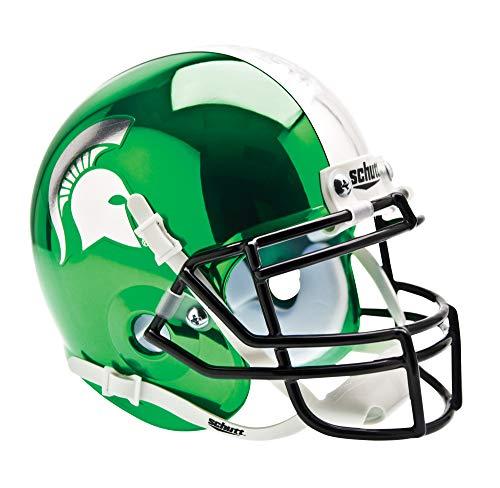 NCAA Michigan State Spartans Collectible Alt 2 Mini Helmet, Chrome Kelly -