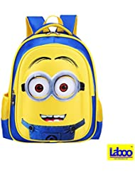 LABOO Minions Kid Backpack-3D Cartoon School Bag for Children Ages 5 & Older,15H × 11.4L × 5.5W