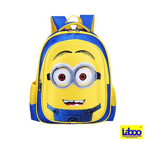 "Minions Kid Backpack-3D Cartoon School Bag for Ages 6 & Older,15""H × 11.4""L × 5.5""W"