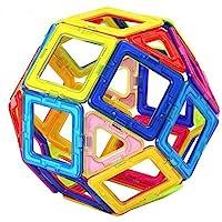 Toyshine Plastic Magnetic Tiles Building Blocks Construction Set Educational Stacking Toys (20 Pieces, Multicolour)